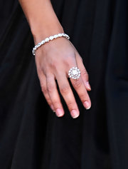 Camila Alves added shine to her dazzling Oscars look with a diamond-encrusted bangle.
