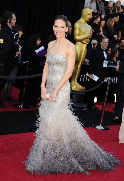 Hilary Swank in Gucci