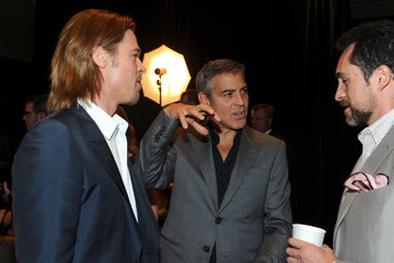 Brad Pitt George Clooney 84th Academy Awards Nominations Luncheon - Inside