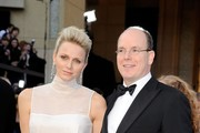 Charlene Wittstock's Pleated 2012 Oscars Gown