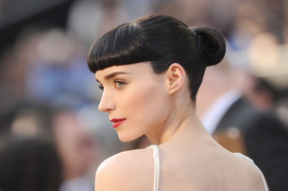 Rooney Mara's Dark Locks and Porcelain Complexion