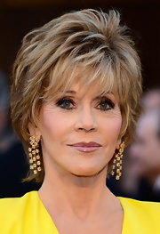 Jane Fonda shined in yellow at the 2013 Oscars with this pair of yellow diamond chandelier earrings.