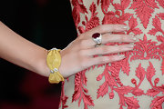 A ruby and diamond ring gave Louise Roe a touch of elegance on the 2013 Oscar's red carpet.
