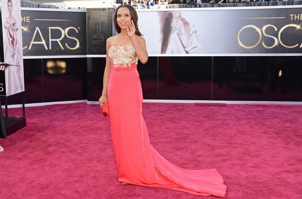 More Pics of Kerry Washington Satin Clutch (1 of 49) - Kerry Washington Lookbook - StyleBistro