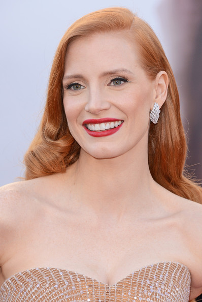 More Pics of Jessica Chastain Strapless Dress (2 of 103) - Strapless Dress Lookbook - StyleBistro