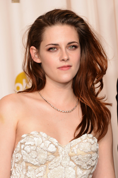 More Pics of Kristen Stewart Long Wavy Cut (3 of 23) - Kristen Stewart Lookbook - StyleBistro