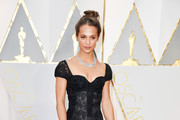 Alicia Vikander Lace-Up Heels