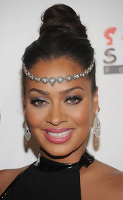 La La Anthony wore shiny shimmering pink lipstick at the 8th Annual Keep a Child Alive Black Ball.