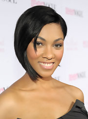 Bria Murphy looked fresh-faced and modern with her graduated bob at the Teen Vogue Young Hollywood Party.
