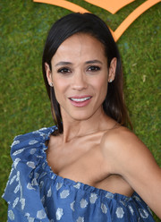 Dania Ramirez wore her hair in a simple straight cut at the Veuve Clicquot Polo Classic.