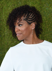 Regina King looked oh-so-cool with her partially braided curls at the Veuve Clicquot Polo Classic.