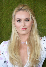 Lindsey Vonn looked sweet with her flowing half-up hairstyle at the Veuve Clicquot Polo Classic.