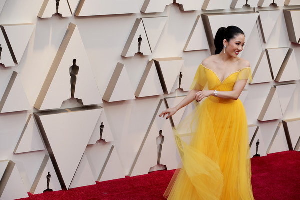 More Pics of Constance Wu Ponytail (1 of 12) - Constance Wu Lookbook - StyleBistro [yellow,dress,fashion,carpet,fashion design,gown,flooring,photography,red carpet,haute couture,arrivals,constance wu,academy awards,hollywood,highland,california,annual academy awards]