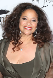 Debbie Allen added some sparkle to her look with these dangling silver spheres.