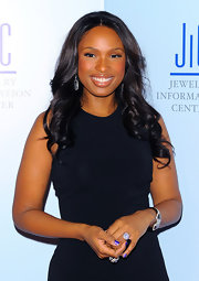 Jennifer Hudson showed off center part curls at the Annual Gem Awards.