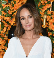 Catt Sadler sported a shoulder-length 'do with barely-there waves at the Veuve Clicquot Polo Classic Los Angeles.