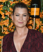 Ellen Pompeo sported a simple ponytail at the Veuve Clicquot Polo Classic Los Angeles.