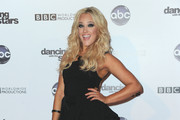 Professional dancer Lacey Schwimmer arrives to ABC's