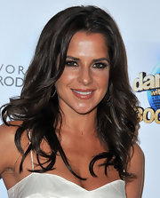 Kelly Monaco chose a long wavy 'do for her red carpet look at the 300th episode party for 'Dancing With the Stars.'