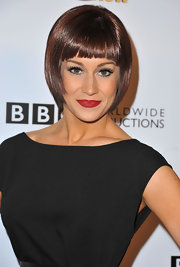 Kellie Pickler opted for a flapper-style bob with angled edges and blunt bangs!