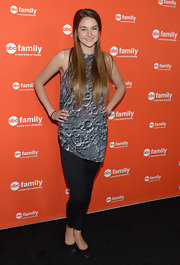 We can't get over how cool Shailene Woodley's moon crater top is for the ABC Family event!