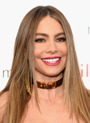 Sofia Vergara attended the 'Modern Family' ATAS Emmy event wearing her signature center-parted style.