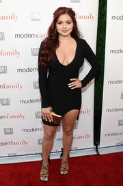 Ariel Winter amped up the sexiness with a pair of studded, strappy sandals.