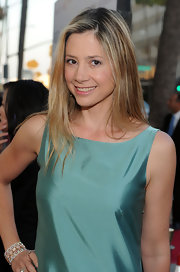 Mira Sorvino styled her hair in wispy layers for the premiere of 'Get Low.'