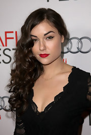 Sasha Grey wore her hair in a mass of long, flowing curls at a screening of 'I Melt With You.'