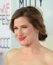 Kathryn Hahn pulled her hair back in a soft updo for the screening of 'The Secret Life of Walter Mitty.'