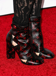 Julianne Moore wore a complete Louis Vuitton look including these cute black-and-red cutout boots to the AFI FEST 2014 screening of 'Still Alice.'