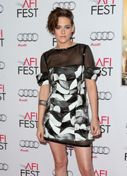 Kristen Stewart rocked a graphic print Chanel dress at the AFI FEST 2014 screening of 'Still Alice.'