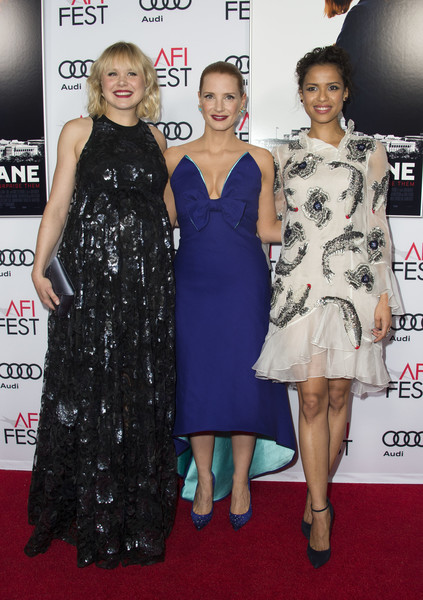 More Pics of Gugu Mbatha-Raw Pinned Up Ringlets (1 of 10) - Gugu Mbatha-Raw Lookbook - StyleBistro [dress,clothing,carpet,red carpet,cocktail dress,premiere,fashion,hairstyle,flooring,fashion model,red carpet,audi - premiere,actresses,alison pill,jessica chastain,miss sloane,usa,europacorp,afi fest 2016,premiere]
