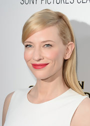 When you have such flawless skin as Cate, a red lip can go a long way.