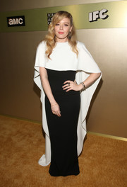 Natasha Lyonne chose a caped black-and-white gown by Sally LaPointe for the AMC Networks Emmy party.