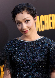 Ruth Negga attended the 'Preacher' season 2 premiere wearing her signature close-cropped curls.