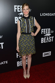 Beth Behrs was a cutie in a floral lace mini dress by Self-Portrait at the premiere of 'Feed the Beast.'