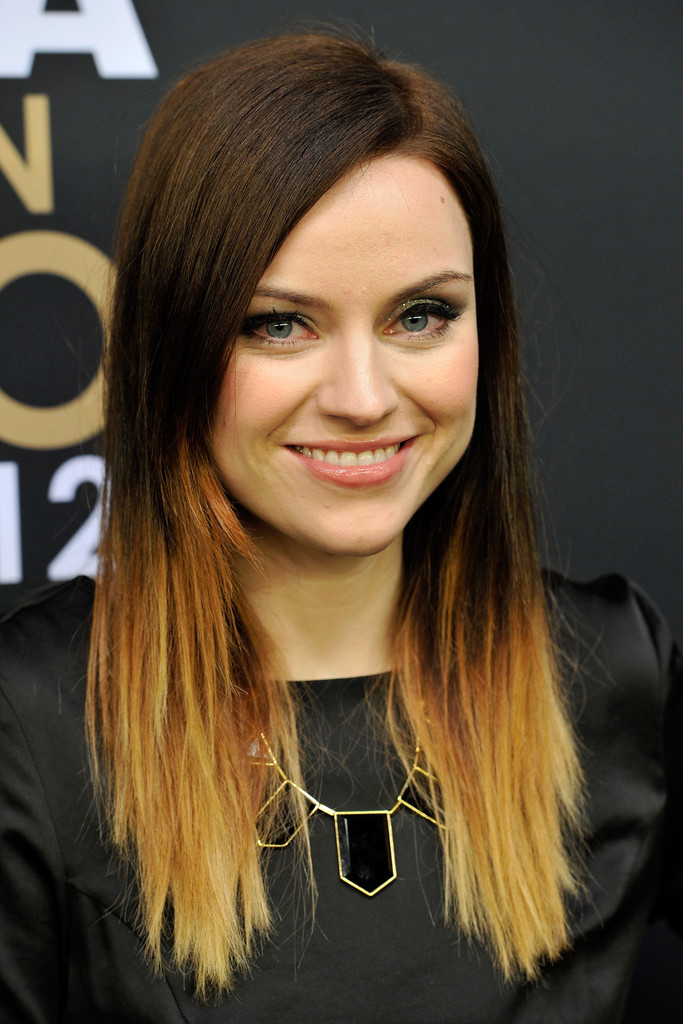 Amy MacDonald rocked trendy dip-dyed ombre tresses at the FIFA Ballon d'Or