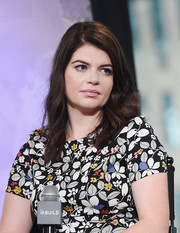 Casey Wilson styled her hair with spiral waves for her appearance on AOL Build.