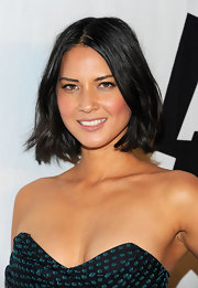 Olivia Munn rocked a blunt cut bob at the AOL 'Maxim' party.