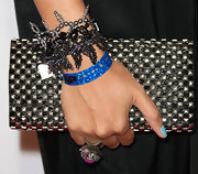Marsha Ambrosius amped up the edge factor with this studded clutch at the ASCAP Rhythm and Soul Music Awards.