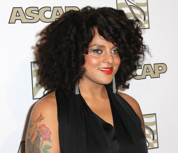 More Pics of Marsha Ambrosius Flower Tattoo (1 of 6) - Flower Tattoo Lookbook - StyleBistro