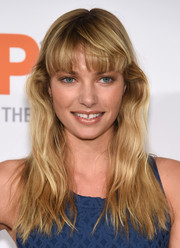 Jessica Hart sported casual yet cute waves and blunt bangs during the Bergh Ball.