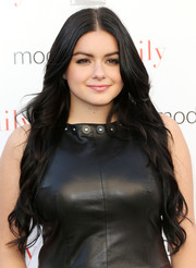 Ariel Winter looked vampy with her ultra-long center-parted waves paired with a leather dress at the ATAS screening of the 'Modern Family' season finale.