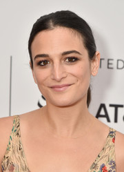 Jenny Slate went for a casual center-parted ponytail at the Tribeca Film Festival premiere of 'Aardvark.'