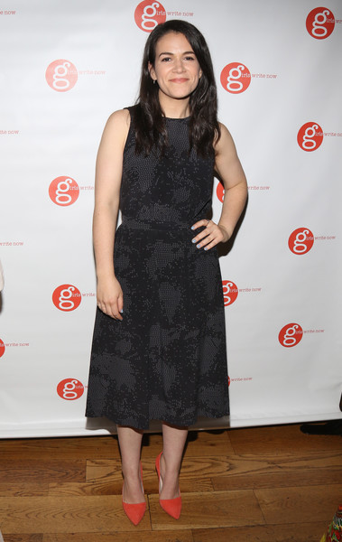 Abbi Jacobson Little Black Dress [clothing,dress,little black dress,cocktail dress,fashion,footwear,shoulder,premiere,flooring,long hair,abbi jacobson,fifth annual girls write now awards,new york city,city winery,girls write now]