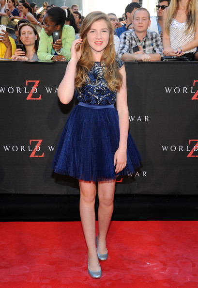 Abigail Hargrove Cocktail Dress [world war z,red carpet,clothing,dress,carpet,premiere,flooring,cocktail dress,fashion,event,footwear,abigail hargrove,inside arrivals,new york,duffy square,times square,new york premiere]