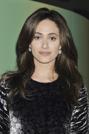 Emmy Rossum showed off a stylish high-volume 'do at the New York screening of 'About Elly.'