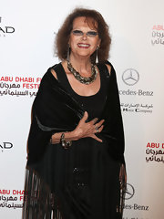 This gold braided necklace made a grand statement on Claudia Cardinale.