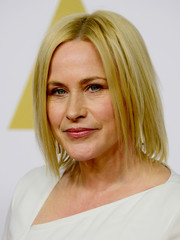 Patricia Arquette opted for a short layered cut when she attended the Academy Awards nominee luncheon.